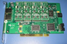 photo digium 8 port bri analog hybrid card
